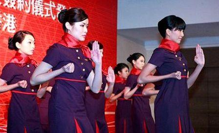 Китай: стюардессы Hong Kong Airlines овладеют боевыми искусствами