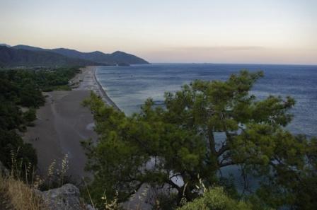 Турция: заповедная зона Чиралы (Cirali)
